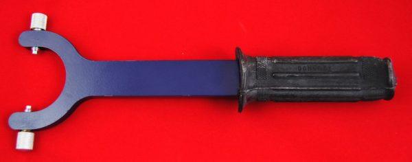 Pin spanner for external spring fork seal holders