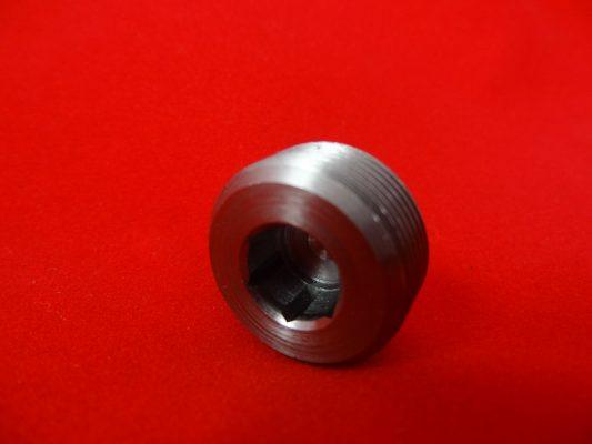 Sludge tube plug, hexagonal socket type.
