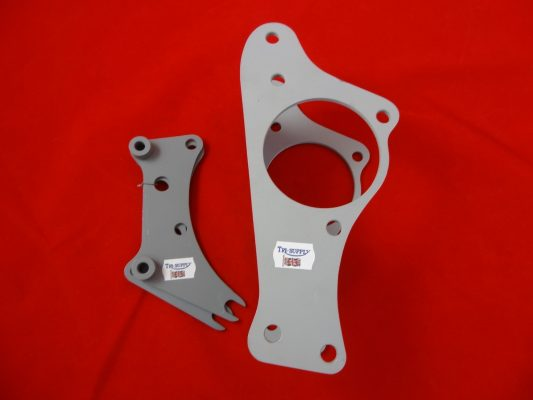 Rigid Trophy front one piece assembly, 2 rear engine plates and 4 spacers. Suitable for mounting a pre-unit engine in a TR5/TRW frame