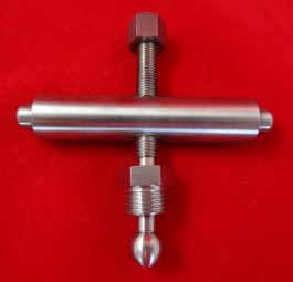 Gearbox adjuster S/Steel, for rigid frames upto'54. Tri-Supply made