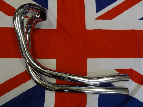 Triumph exhaust pipes. Rigid 5T, T100, 6T. Dynamo models pre 1952 Per Pair. Made to original Triumph drawing in England