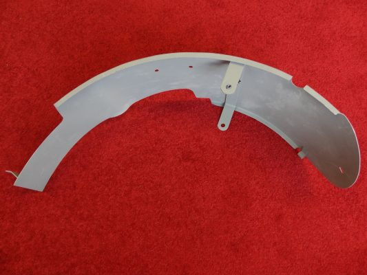 Rear inner guard for 650 duplex, 6T/T110, all holes inserted.