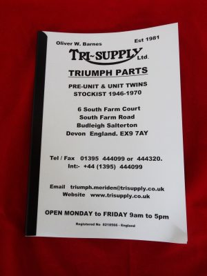 Full Tri-Supply Triumph Parts catalogue