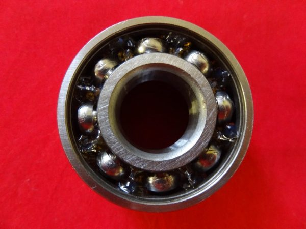 Triumph rear wheel bearing for bolt-on sprocket wheel.