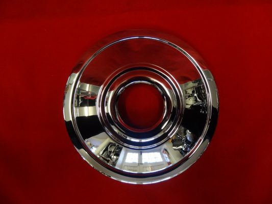 "Triumph front wheel chrome  8"" diameter cover plate for 7"" hub"