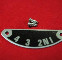 Gear indicator plate, 'C' range.Supplied with 2 hammer drive screws.