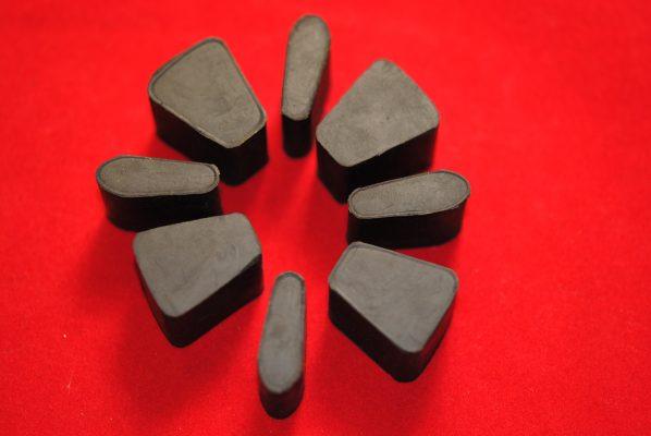 Shock absorber rubber sets, 4 spring.