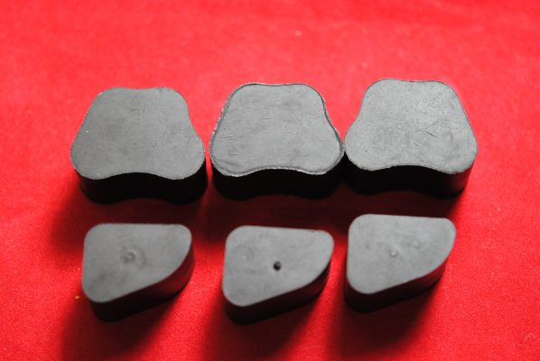 Shock absorber rubber sets, 3 spring.