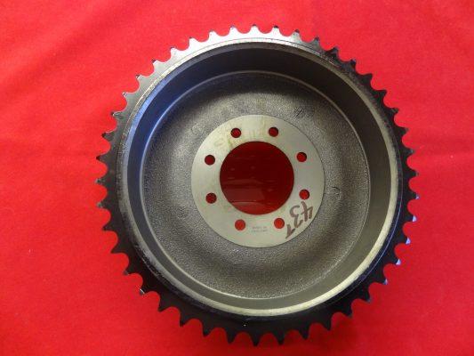 Triumph rear wheel Bolt-on sprocket and brakedrum, 43T 37-1276
