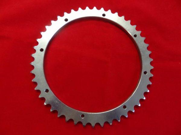 Triumph rear wheel detachable sprocket ring for unit Triumph with bolt-on drum. 46T (wide) 37-1499
