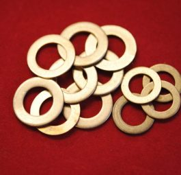 Copper washers for drain pipes, RO6, set of 12.
