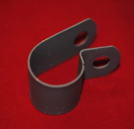 "Triumph Clip for rigid toolbox to lower frame tube (1""D). Also for s/arm toolbox to rear frame tube"