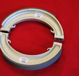 "Triumph Brake shoes 8"" single leading shoe, fully floating type. Pair."