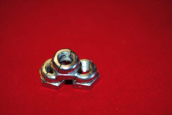 "Triumph Stator nuts, pre '68 (5/16"" CEI), per 3."