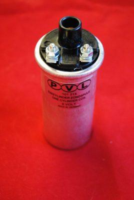 """Triumph Ignition coil. Lucas PVL. 1 5/8"""" diameter 6 volt"""