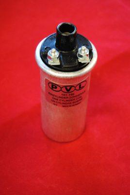 """Triumph Ignition coil, Lucas PVL 1 5/8"""" diameter 12 volt"""