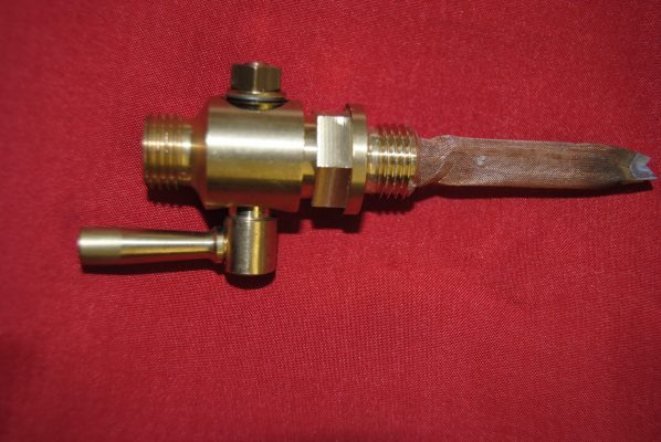 Taper type round lever, brass finish with filter, 1/4' B.S.P. Made in Great Britain!!