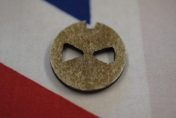 Triumph Rotary breather valve disc, 'B' range, fits behind cam bush.