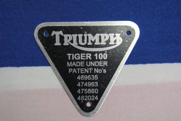 Triumph Model Tiger 100 - black on alloy.