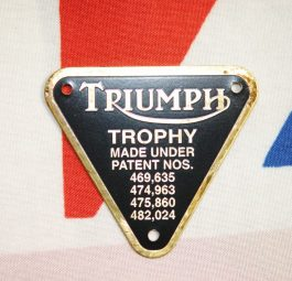 Triumph Model Trophy - black on alloy.