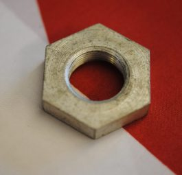 Triumph rear wheel Bearing sleeve nut, UNF, '69 on