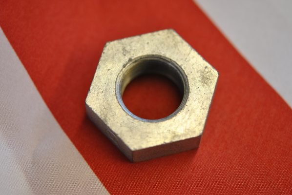 Triumph Brake plate clamping nut, '69 on.
