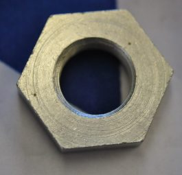 Triumph Nut, R/H side, for clamping speedo gearbox.