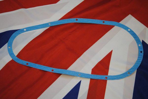 Triumph Chaincase Gasket, rigid pre-unit 'long' dynamo.