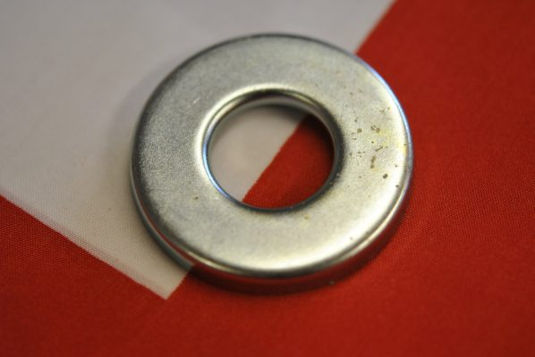 Triumph front wheel Dustcover, left hand side of full width hub