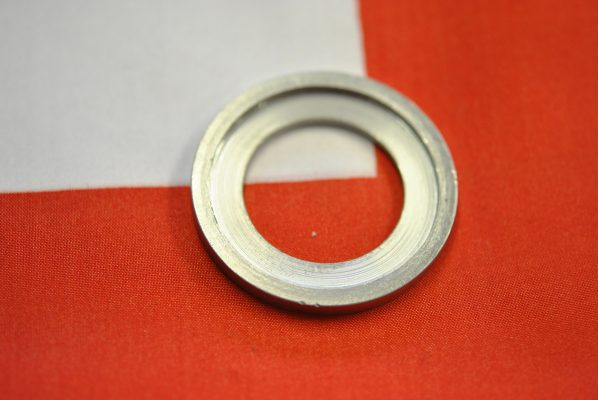 """Triumph front wheel Bearing support ring incorporating grease retainer, """"68 - """"70"""