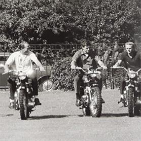 Steve McQueen riding Triumph