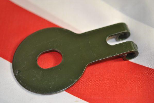 Triumph fork Damper anchor plate, P/U pre '60.
