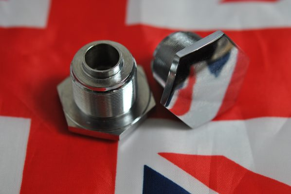 Triumph Fork top nut Pre-unit, pre '60 - threaded hole