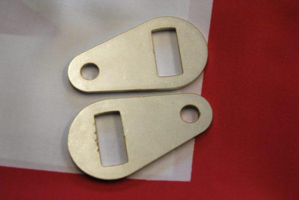 Pear-shaped bracket, fork slider to tubular stays, per pair.