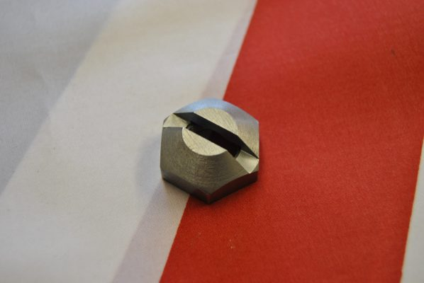 Slotted nut for camshaft drive to cable pre-unit rev counter timing cover.