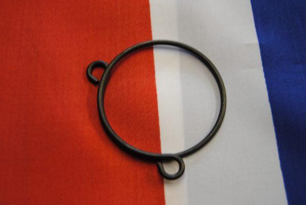 Triumph gaiter clip spring wire black finish, used 1966 -1968. each