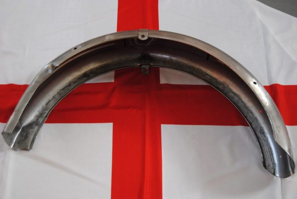 Rear guard for duplex T120/TR6, with centre bracket