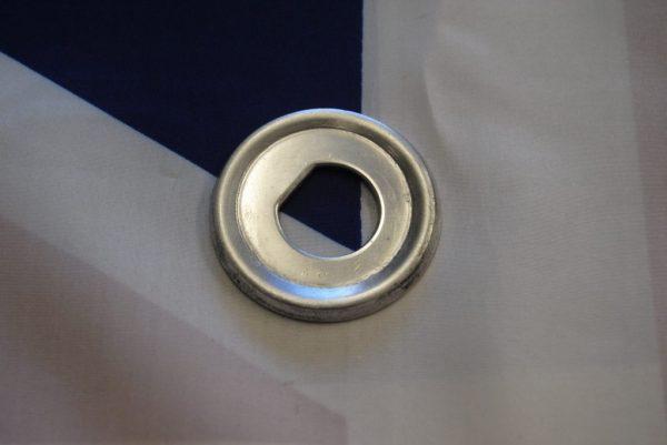 Chrome plate, goes beneath knob on LS5.
