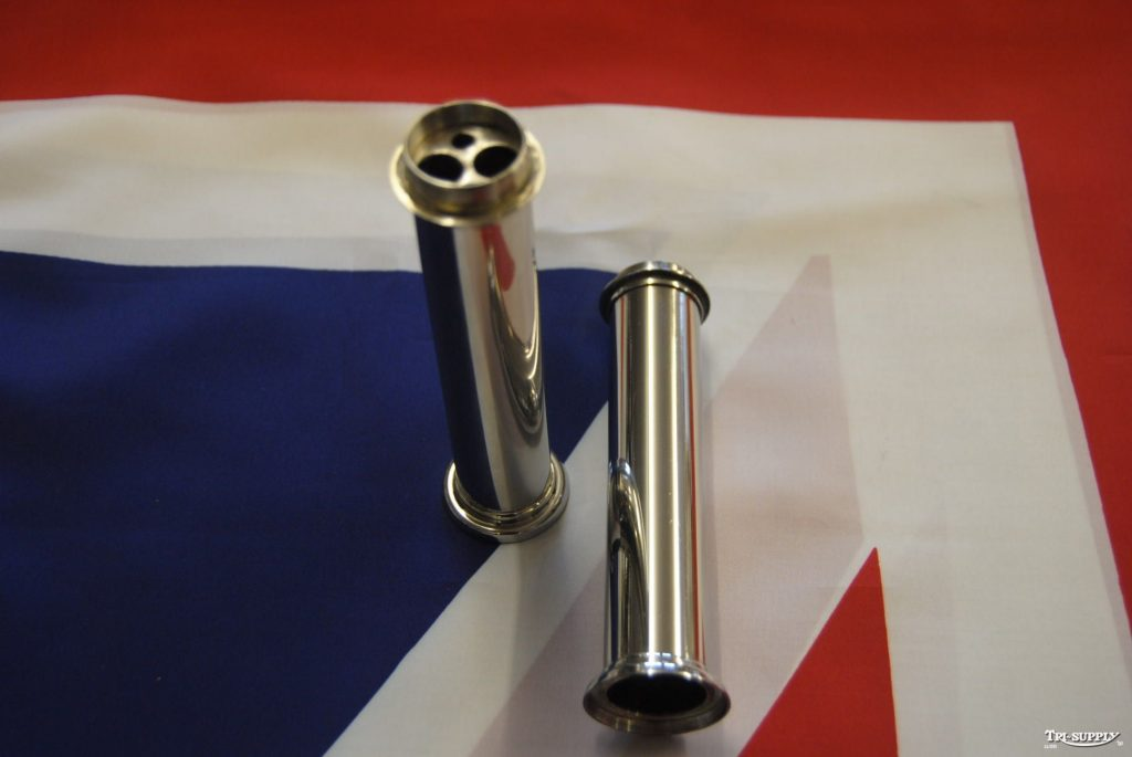 "70-3646 Pre-unit & Unit up to 1965 push rod tube to suit ""Alloy head"". Made from Stainless Steel in Birmingham, England"